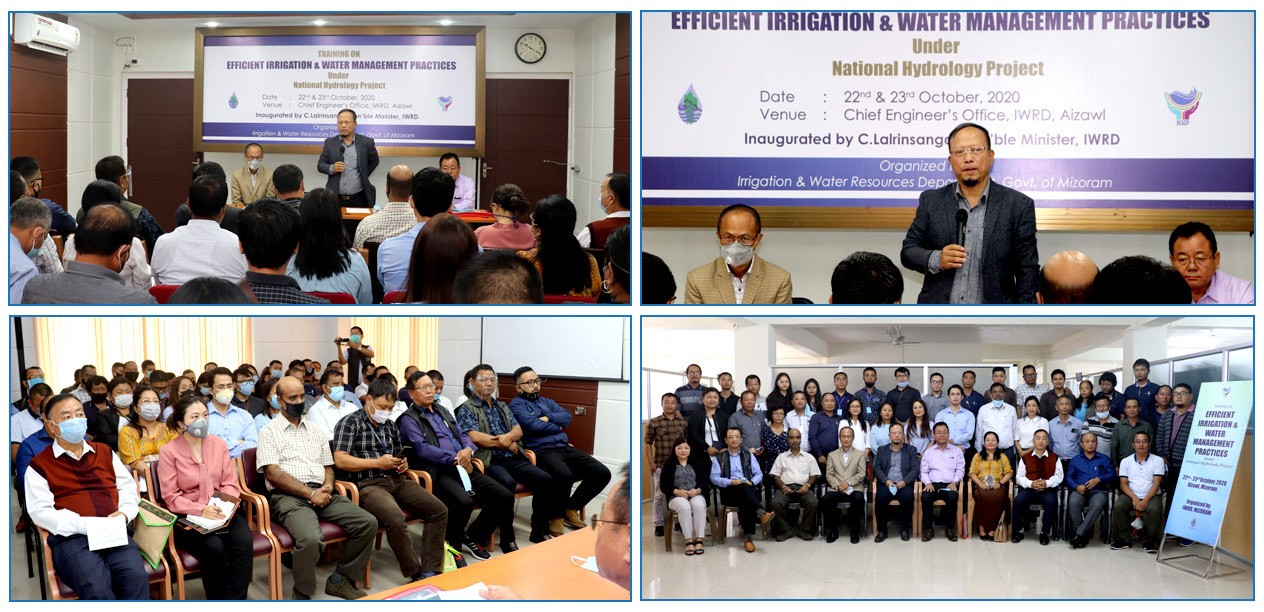 Two days in-house training under NHP on 'Efficient irrigation & Water Management Practices' was inaugurated by Minister, IWRD