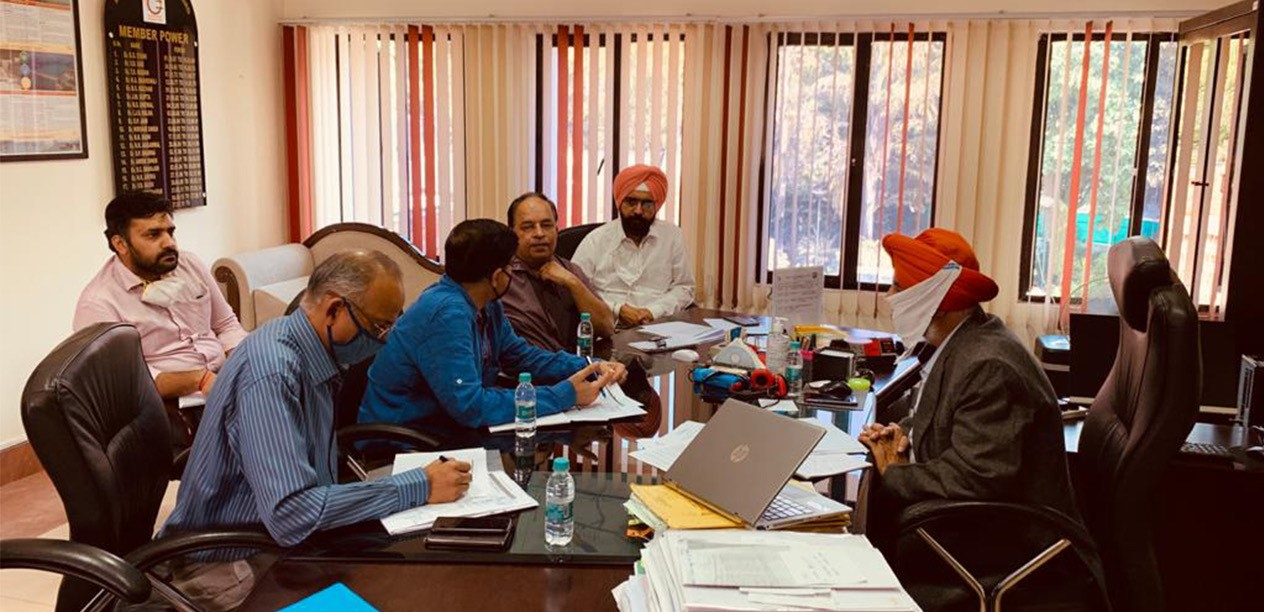 NHP Review meeting with SPMU, BBMB headed by Member (Power) and SJC-I at BBMB HQ, Chandigarh