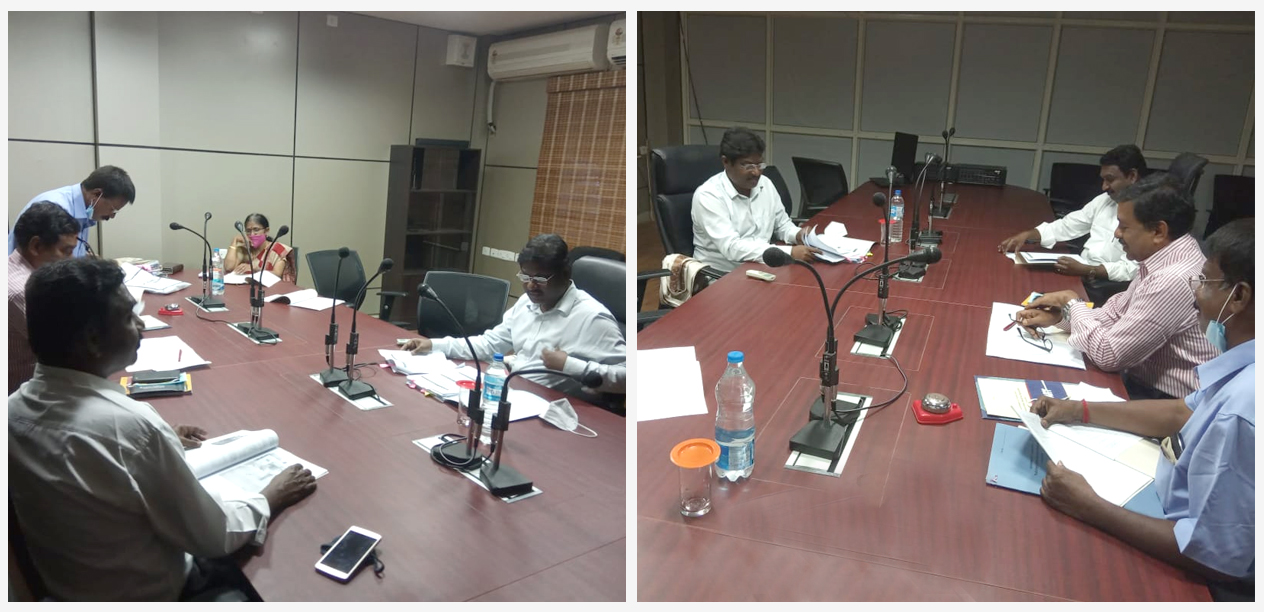 Shri. Dr. Gnanasundar, SJC-III, NPMU reviewed the work of NHP at Puducherry Water Resources Organization, Puducherry