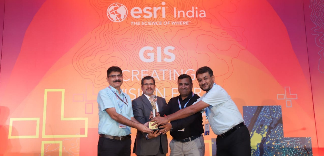 NHP Received ESRI India Award for Special Achievement in GIS (SAG)