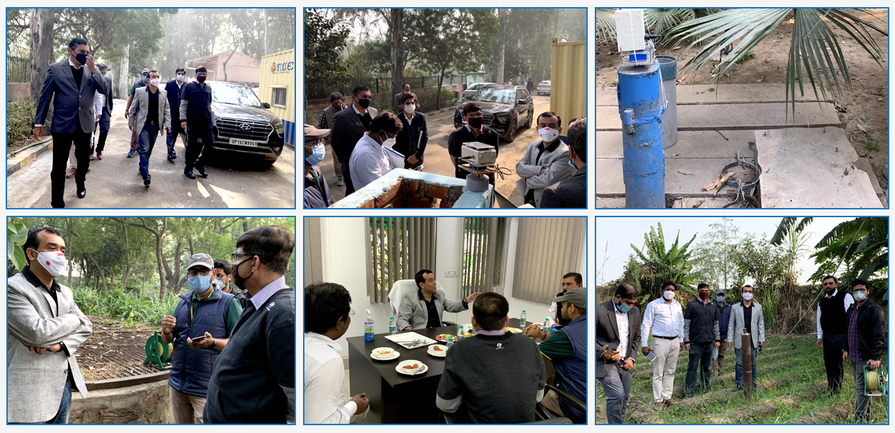 Visit of Ground Water Monitoring sites of I&FC Department, Govt of NCT Delhi & CGWB at Hiranki, Jangola, Palla and Lodhi Road by JS (A, IC & GW), DoWR, RD & GR
