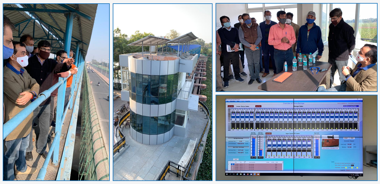 JS (A, IC & GW)  & Project Coordinator (NHP),  visited Okhla Barrage, Delhi on 19th December 2020 where the SCADA system for Automated Barrage Operations has been installed under NHP by Uttar Pradesh (SW). This is the 1st SCADA under the National Hydrology Project (NHP)