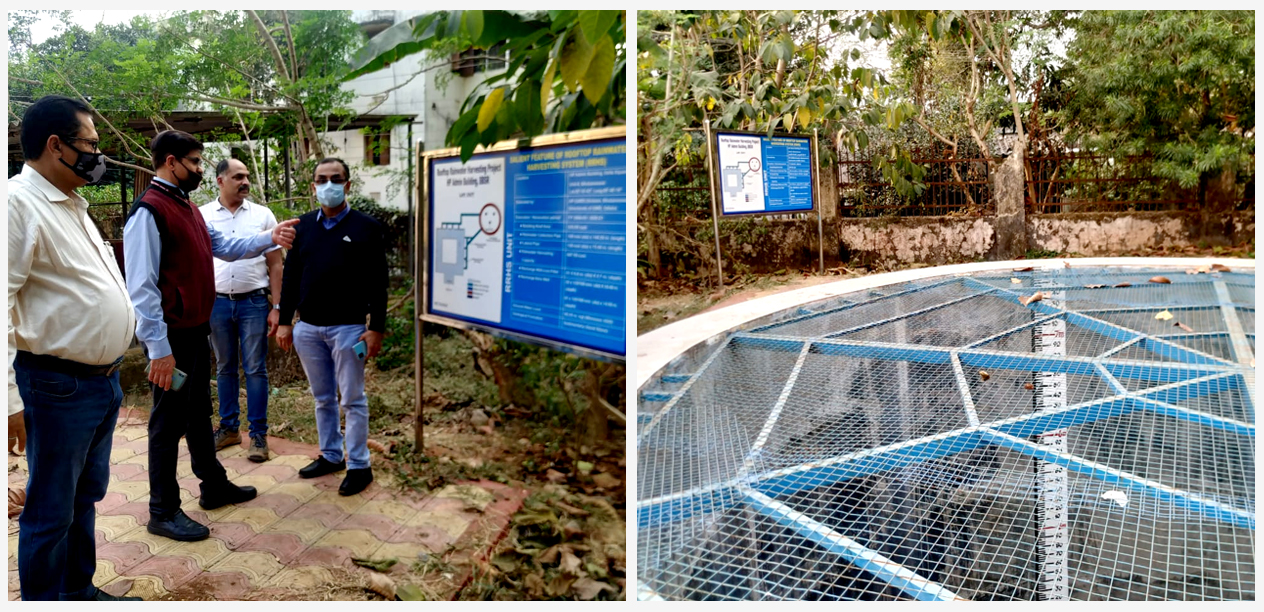 Sh. Rakesh Kashyap, SJC -I along with Chief Engineer, Nodal Officer-NHP team from Implementing Agency Odisha visited the piezometer sites, rooftop rainwater recharge structure, and All-weather station at State Data Centre, Bhubaneshwar.