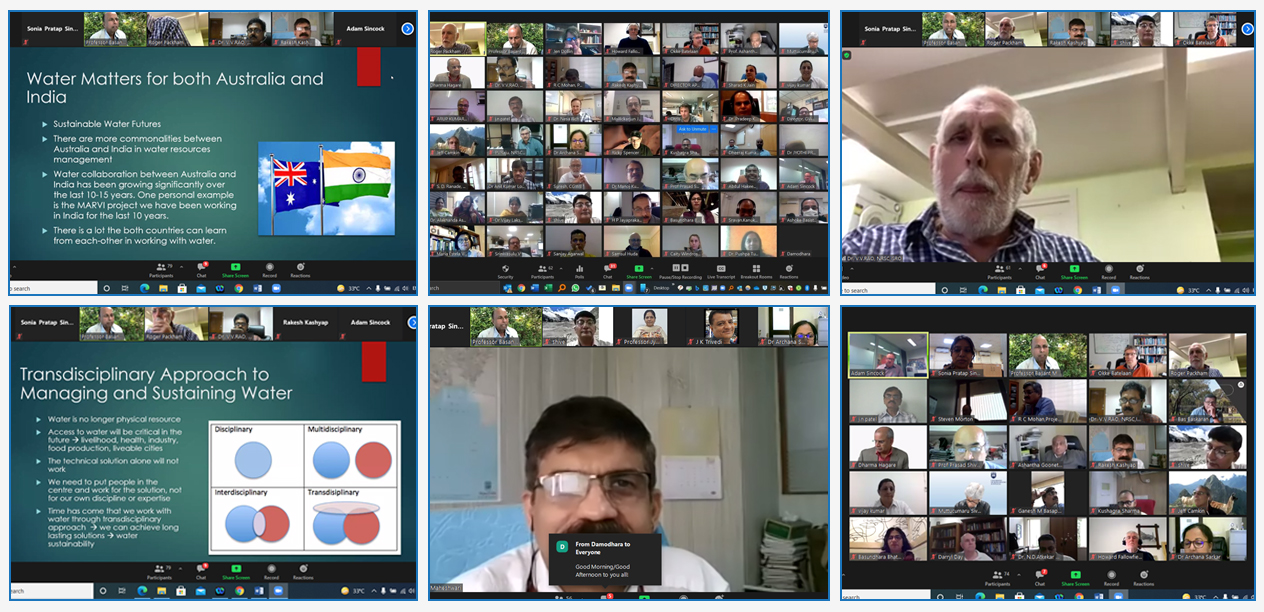 Consultative Workshop in a virtual mode with Water Experts on 'Australia India Technical Exchange'